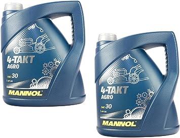 Motorenöl Für 4 Takt Traktoren Rasenmäher Agro Sae 30 Mannol Api Sg 8 Liter Auto