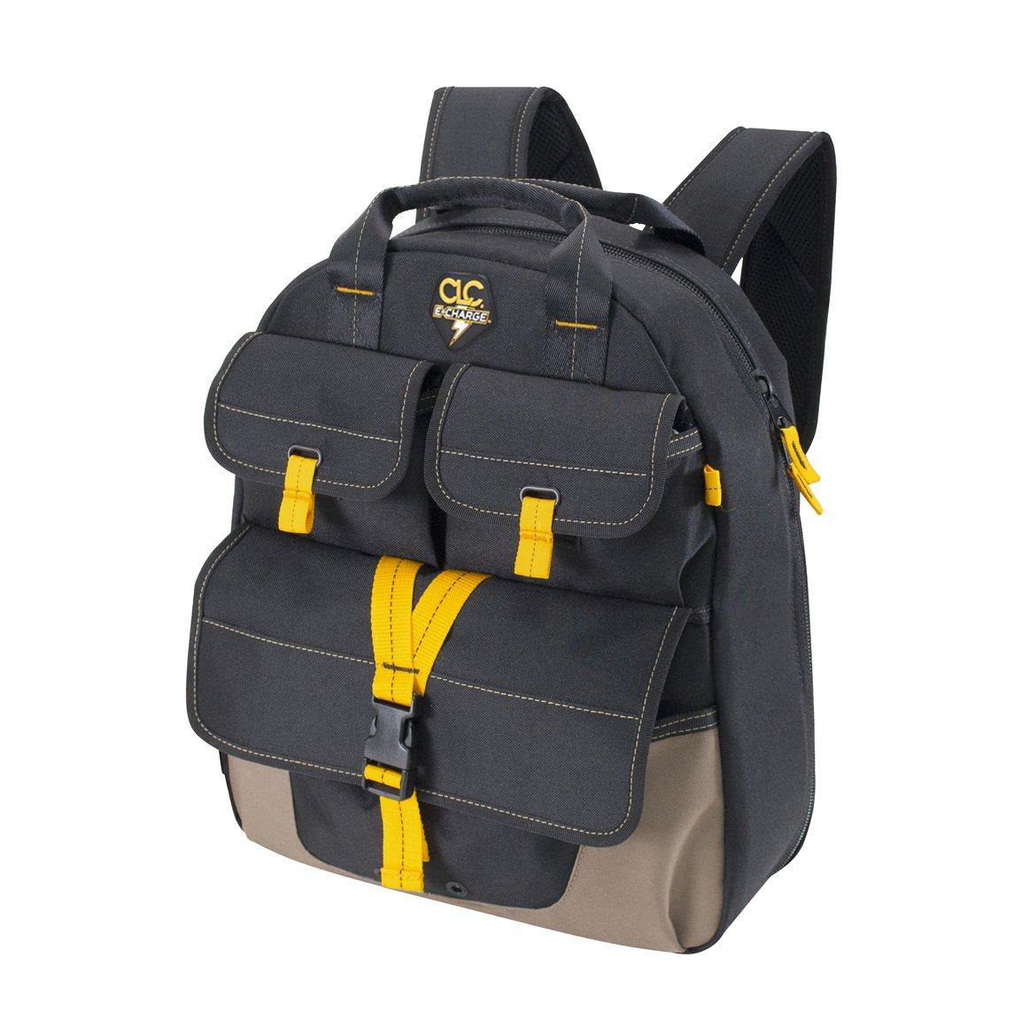 CLC Custom Leathercraft ECP135 E-Charge USB Charging Tool Backpack, 23-Pocket