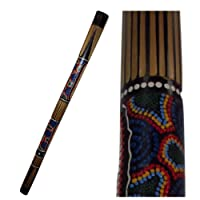 Bamboo Didgeridoo Carved and Hand Painted