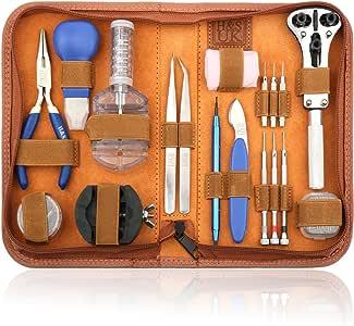 H&S 147 Pcs Kits de Reparación de Reloj Profesional de Herramientas Barra de Resorte: Amazon.es: Bricolaje y herramientas