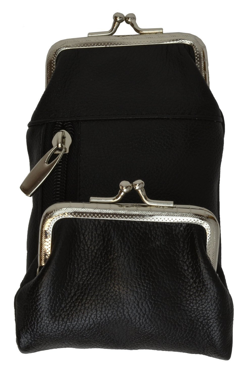 Womens Leather Cigarette and Lighter Case with Twist Clasp in Choice of Colors (Black)