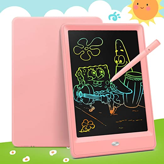 HANXIAODONG Electronic Doodle Pads Drawing Board 3 Pieces Childrens LCD Tablet Graffiti Painting Color Writing Board Manuscript Board Color : Blue, Size : 12 inches