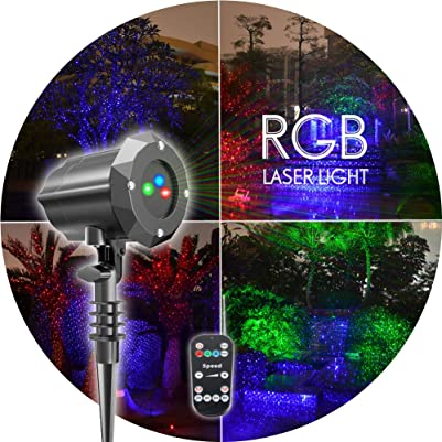Poeland Christmas Laser Lights RGB Projector