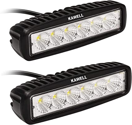 2X 15W LED Width Lights Strip DRL Driving Bumper Jeep SUV Outdoor Camping Lights