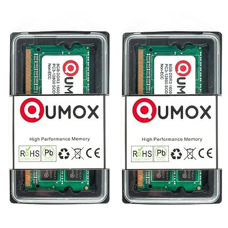 QUMOX Memoria SODIMM 16GB (2X 8GB) DDR3 1600MHz PC3-12800 (204 Pines