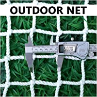 Outdoor Cargo Net White Protective Net for Balcony Stair Railing Children Safety Net Playground Fence Netting, 5cm Mesh…