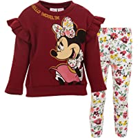 Disney Minnie Mouse - Conjunto de camiseta y leggings de forro polar de manga larga