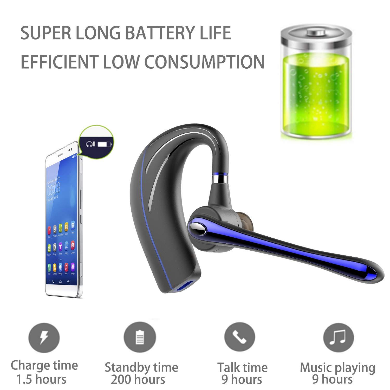 Black+A Bluetooth Headset,Wrieless Ohrh/örer Bluetooth Kopfh/örer V4.1 Freisprechen mit Mikrofon f/ür business//B/üro//Fahren