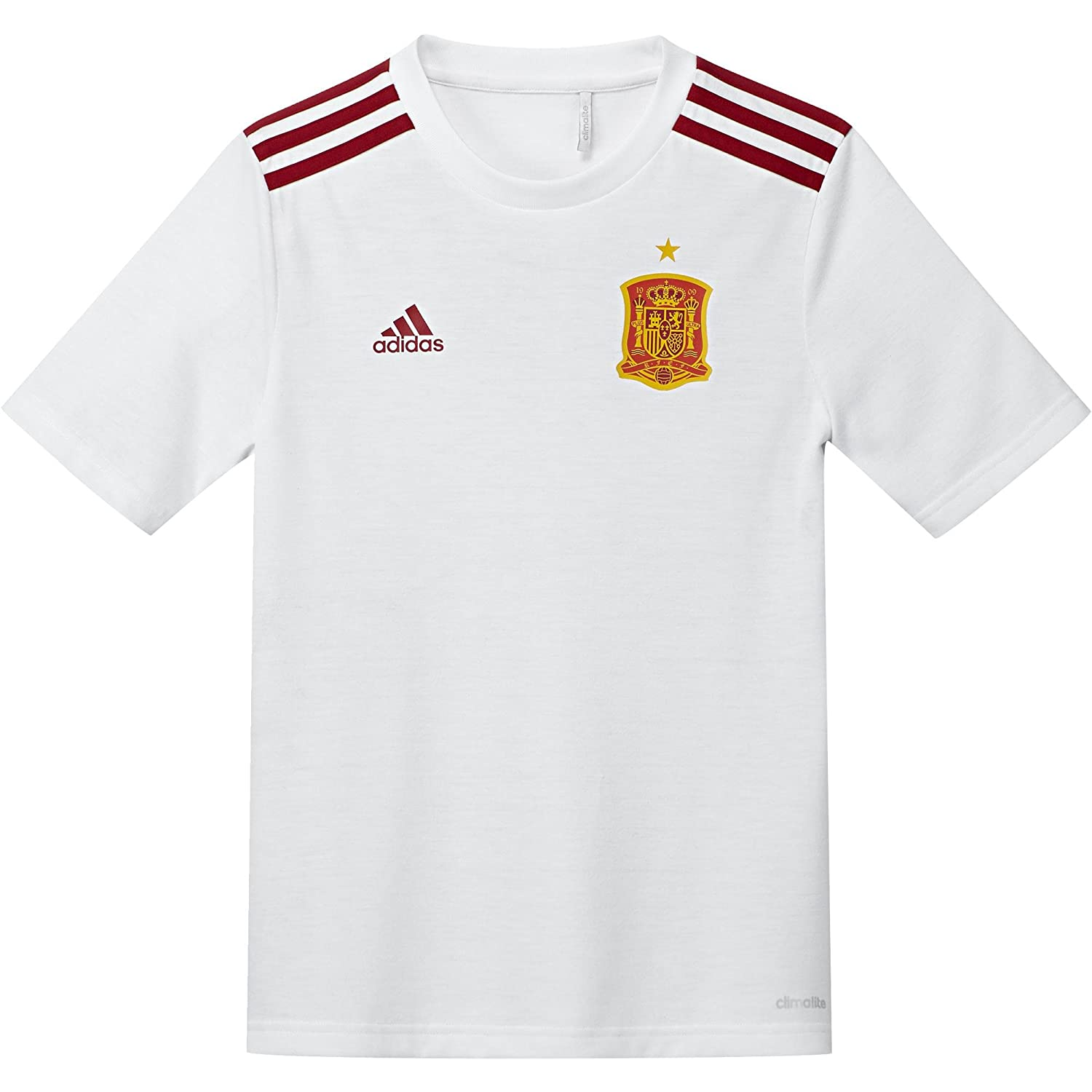 adidas 2016-2017 Spain Away Fan Camiseta, Niños, Blanco/Rojo ...