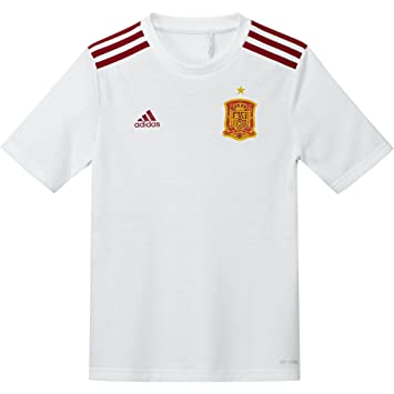 adidas 2016-2017 Spain Away Fan Camiseta, Niños, Blanco/Rojo/Amarillo