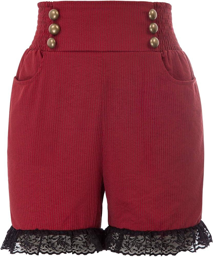 SCARLET DARKNESS Pantalones Cortos Mujer Retro Gótico Renacimiento ...