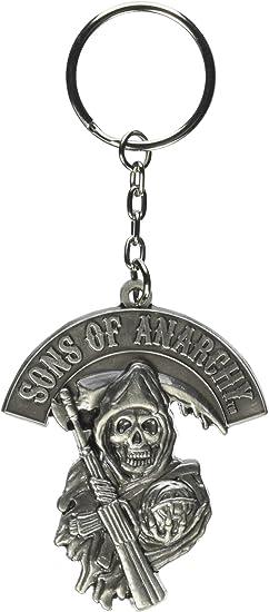 Toy Zany Sons of Anarchy Grim Reaper Logo Llavero Metal: Amazon.es: Juguetes y juegos