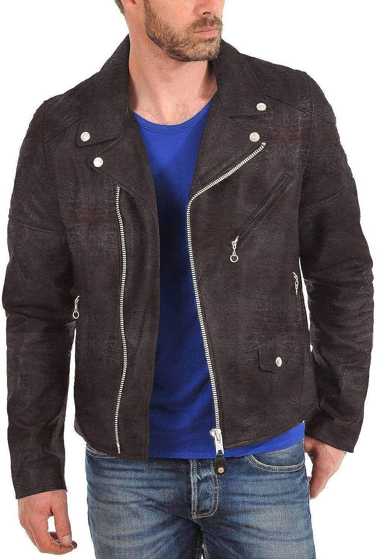 1501001 Laverapelle Mens Genuine Lambskin Leather Jacket Black, Double Rider Jacket
