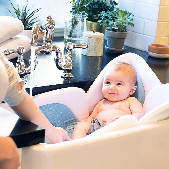 Baño de bebé Blooming Bath, Gris/Celeste: Amazon.es: Bebé