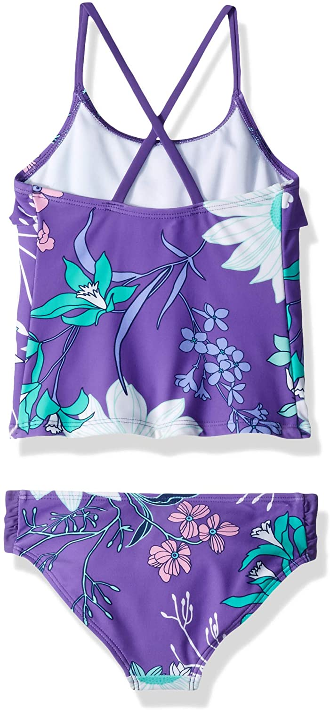 Kanu Surf Girls Paige Floral Flounce Tankini Beach Sport 2-Piece Swimsuit Two Piece Swimsuit