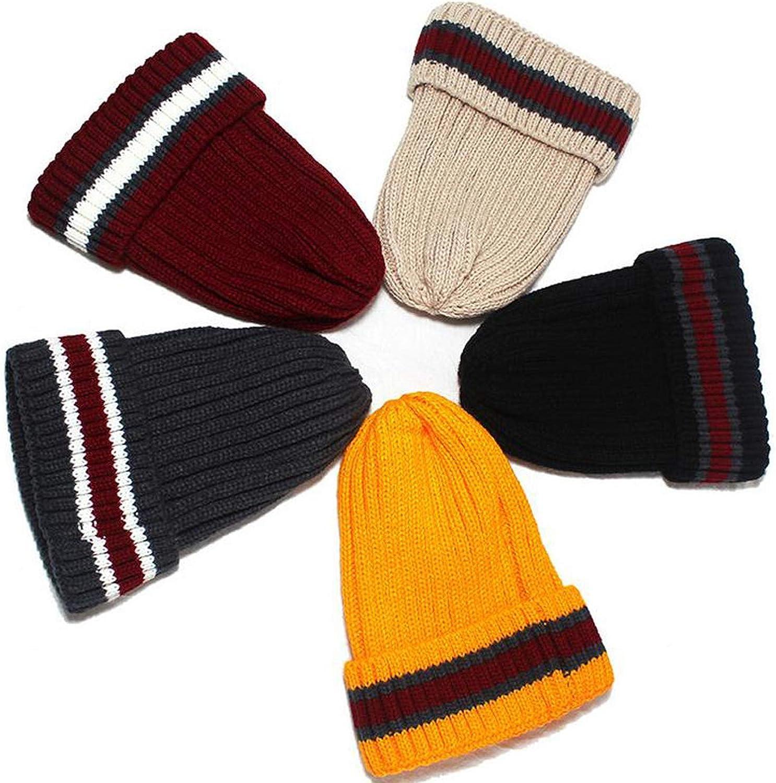 Feisette Winter Hats for Women Women Winter Men Knit Beanie Fur Baggy Wool Cap Ski Hat Beanie