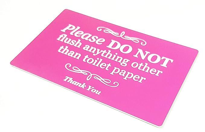 Amazon.com: ORIGIN elegante señal autoadhesiva rosa, placa ...