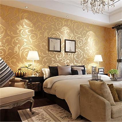Amazon Com Dolland Wallpaper Modern Non Woven 3d Embossed Textured