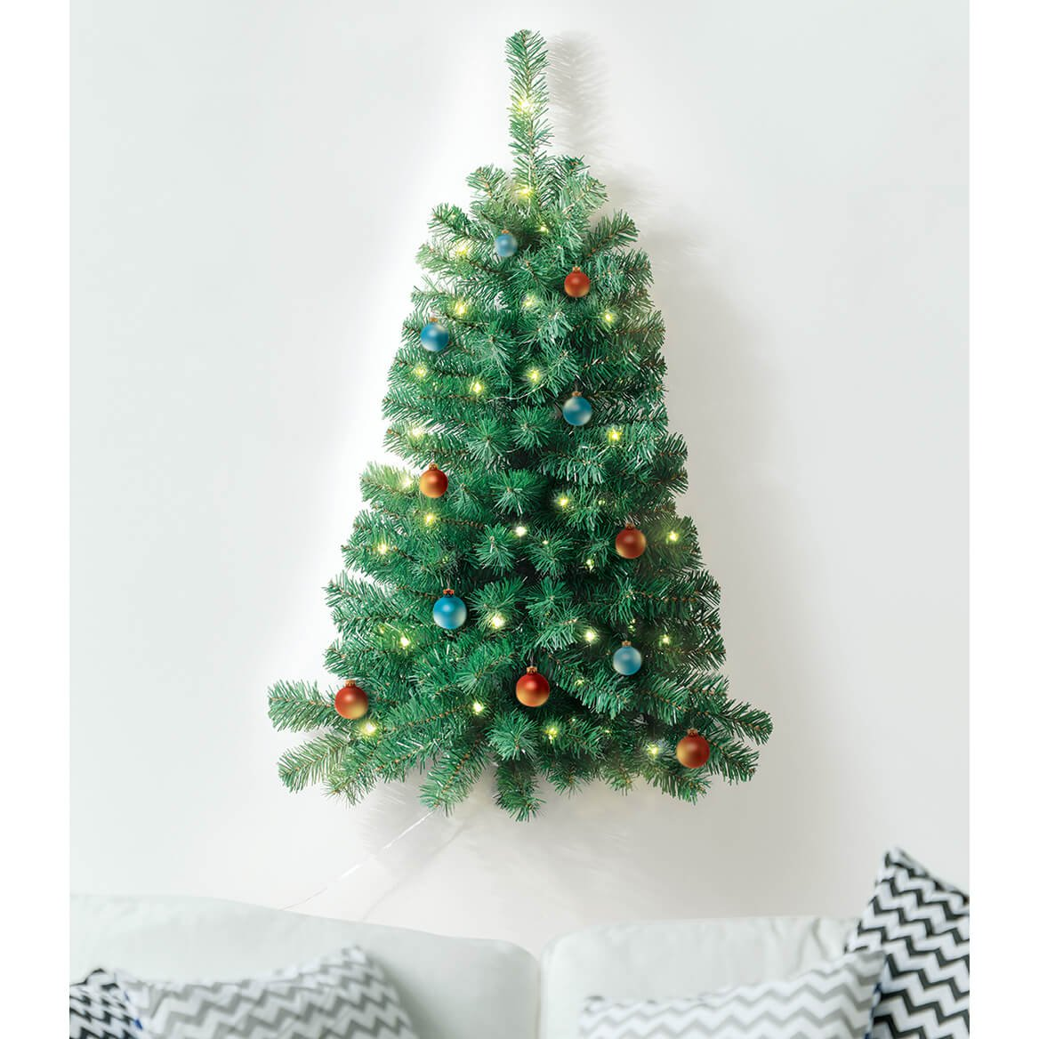 Wall Christmas Trees.Ideaworks Wall Mounted Christmas Tree Lighted And 3 Feet Tall