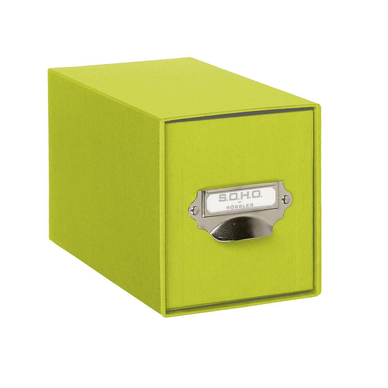 Rössler SOHO - Archivador para CD (compartimento metálico para etiqueta), color negro: Amazon.es: Oficina y papelería