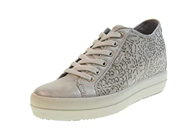 half off 86b7c 7842d Amazon.com | IGI&CO Shoes Woman Sneakers with Wedge 3157022 ...