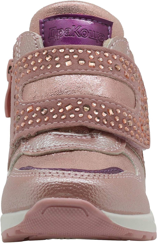 Apakowa Kids Toddler Girls Spring Autumn Cute Casual Shoes Side Zipper