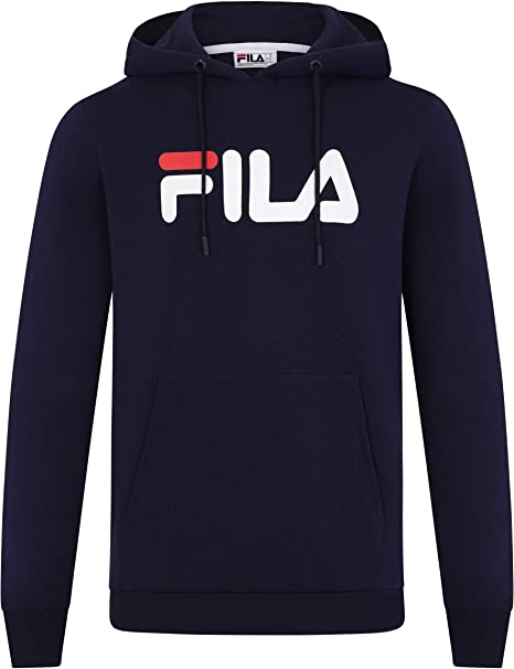 Fila Uomo Felpa con Cappuccio Axel, Blu, XS: Amazon.it