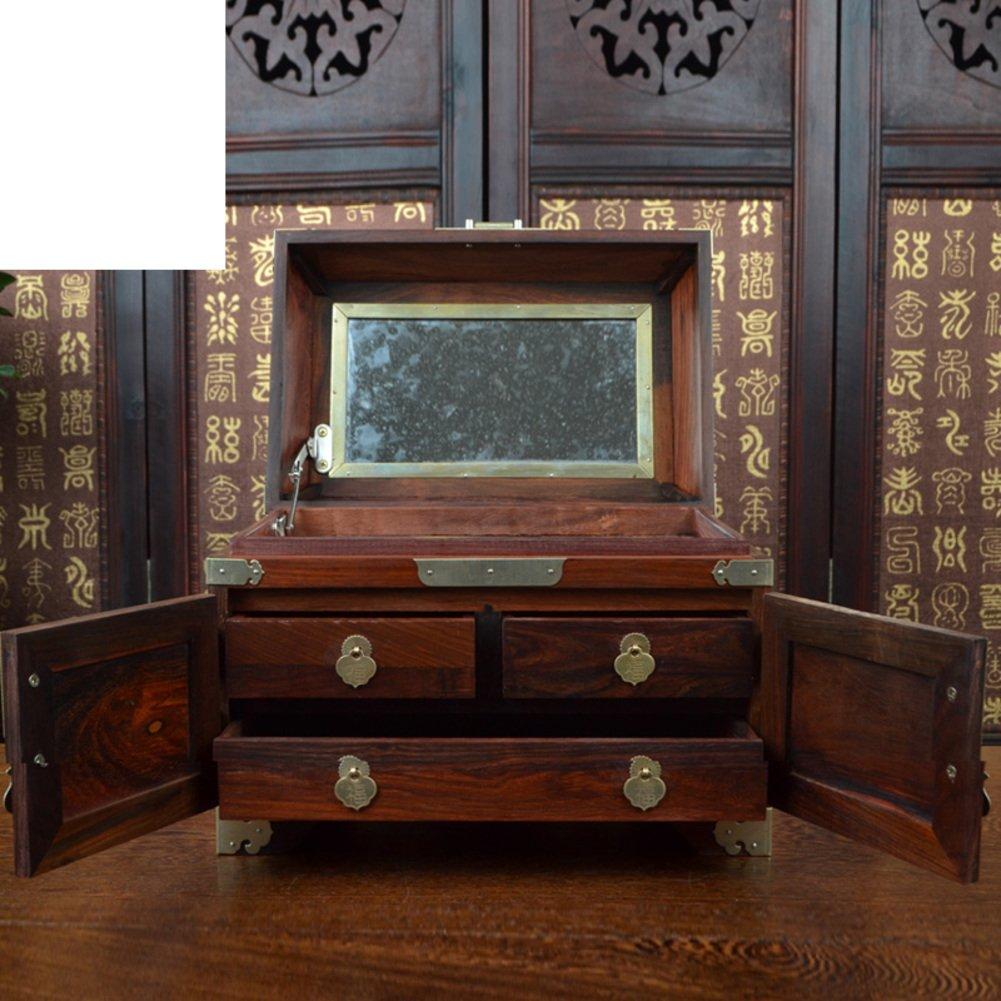 Redwood gift/Rosewood Chan e Moon mirror box/fine jewelry box/cosmetics/fine jewelry/wood jewelry box or box-A