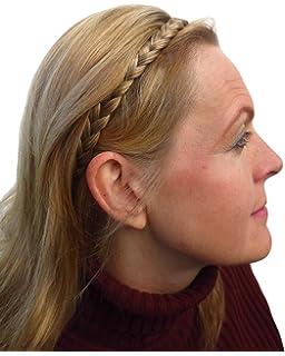 561598b533177b Alle Farben sind erhältlich, Dünne Geflochtene Haarband Blond Gemischt  Haarverlängerung Haarteil