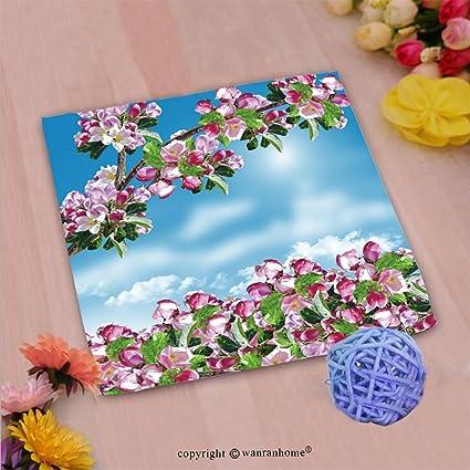 VROSELV Custom algodón Microfibra Ultra Suave Mano Towel-Branch de la Cereza Flores contra el