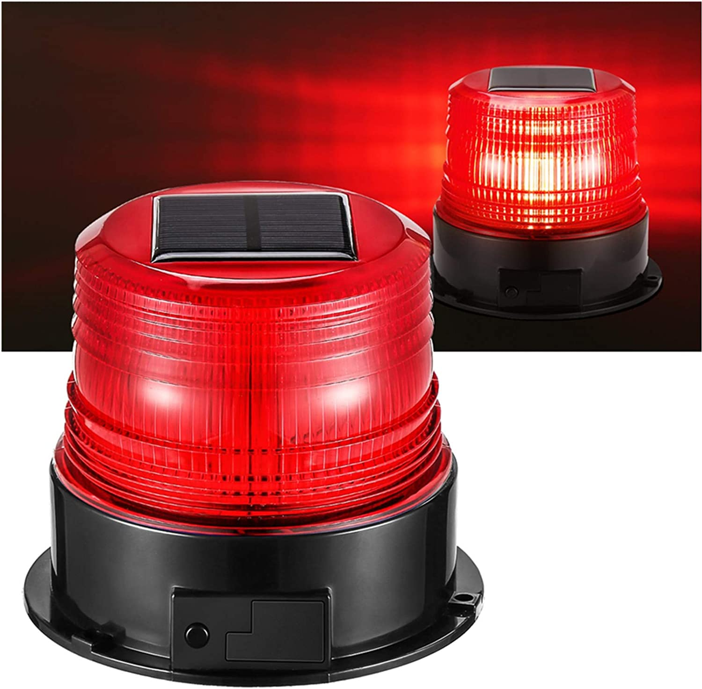 RED Magnetic Base Mount BLUE Mini Strobe Beacon Safety Flasher Warning Light