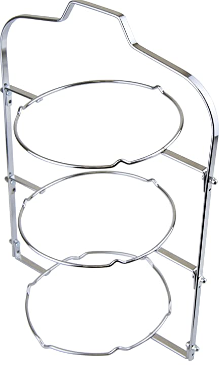 3 Tier Tea Room Folding Plate Cake Stand - 20cm in Chrome Finish  sc 1 st  Amazon UK & 3 Tier Tea Room Folding Plate Cake Stand - 20cm in Chrome Finish ...