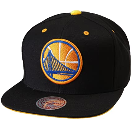 online retailer c69ef 7fc86 Mitchell   Ness NBA Solid Velour Logo Snapback (Adjustable, Golden State  Warriors)