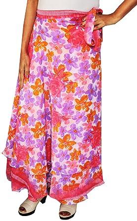 Indian falda para mujer playa larga envoltorio India Ropa Rosa ...