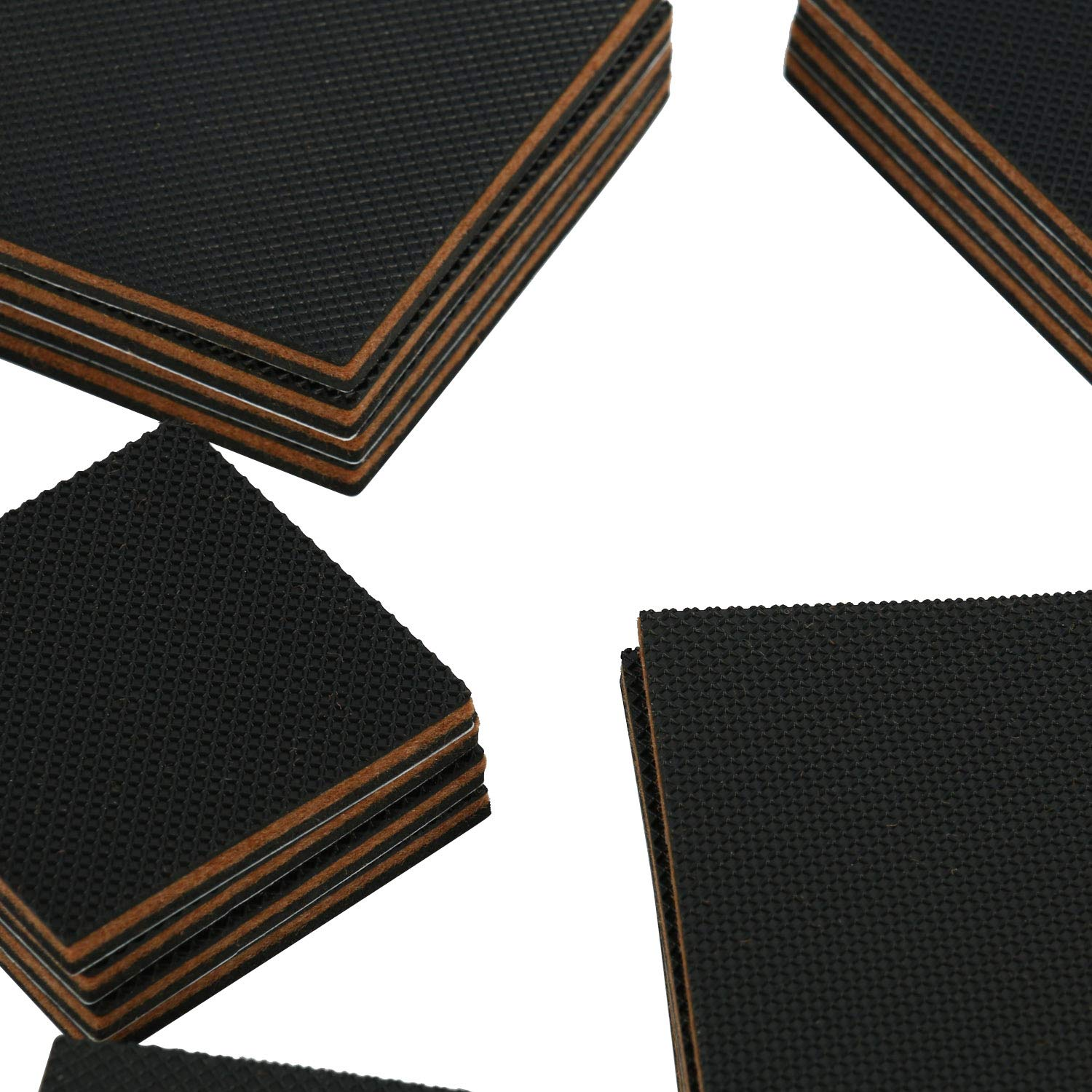 Self Adhesive Rubber Feet Non Skid for Furniture Legs EVA Layer Added Homend Non Slip Furniture Pads 32 Pack Furniture Grippers 24pcs 3 Square + 8pcs 1 Round