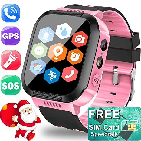 TURNMEON Kids Smartwatch GPS Tracker with SIM CARD - Holiday Electronic Toy Gift Cell Phone Smart Watch for Kids Boys Girls Fitness Tracker - Watch ...