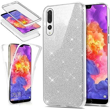 Funda Huawei P20 Pro 360 Grados Integral Para Ambas Carcasa,Huawei P20 Pro Transparente Funda 360 Grados Full Body Protección Completa Cover Bling ...