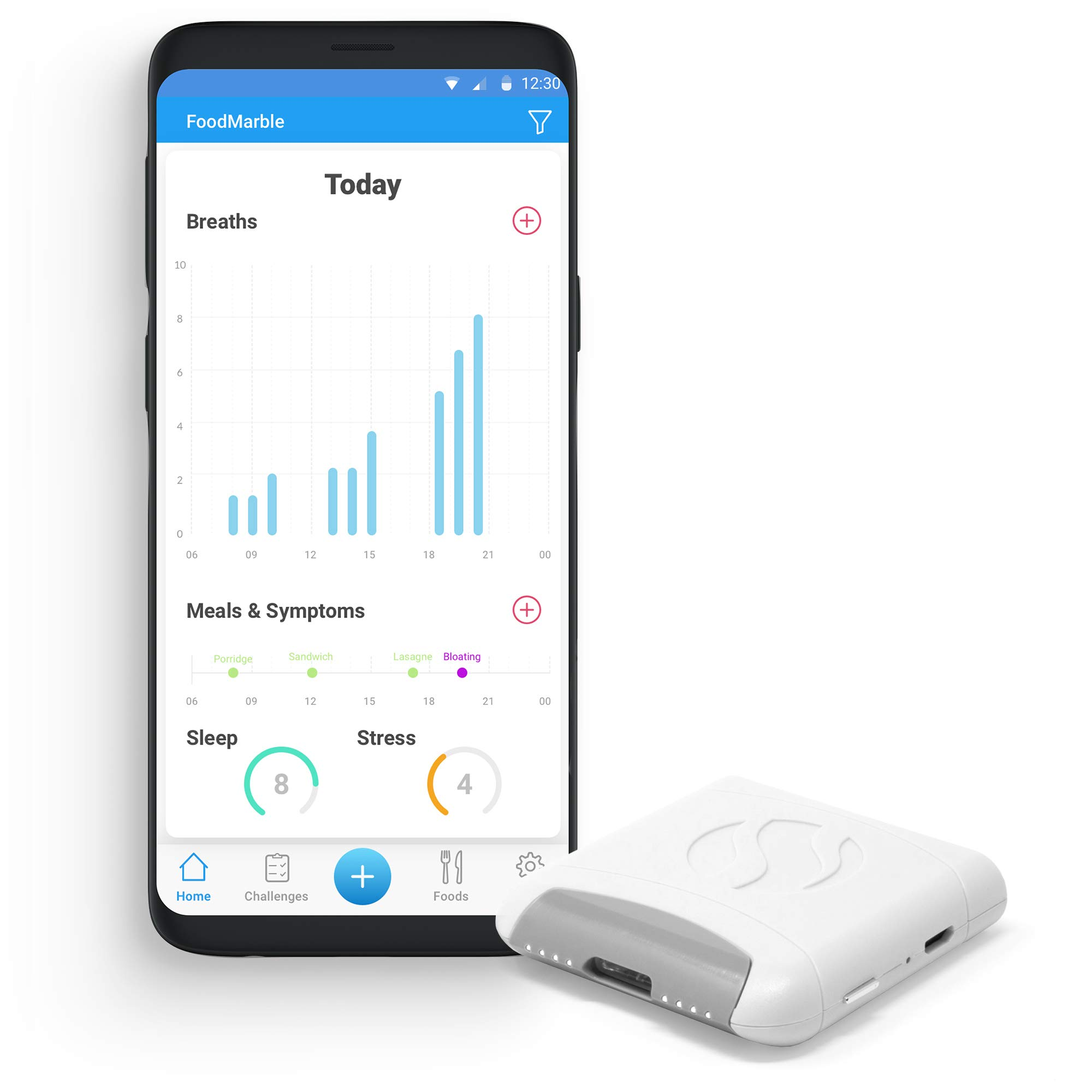 FoodMarble AIRE | Personal Digestive Breath Tester | Easily Monitor Your Gut Health | Track and Discover Food Sensitivity | Device Only …