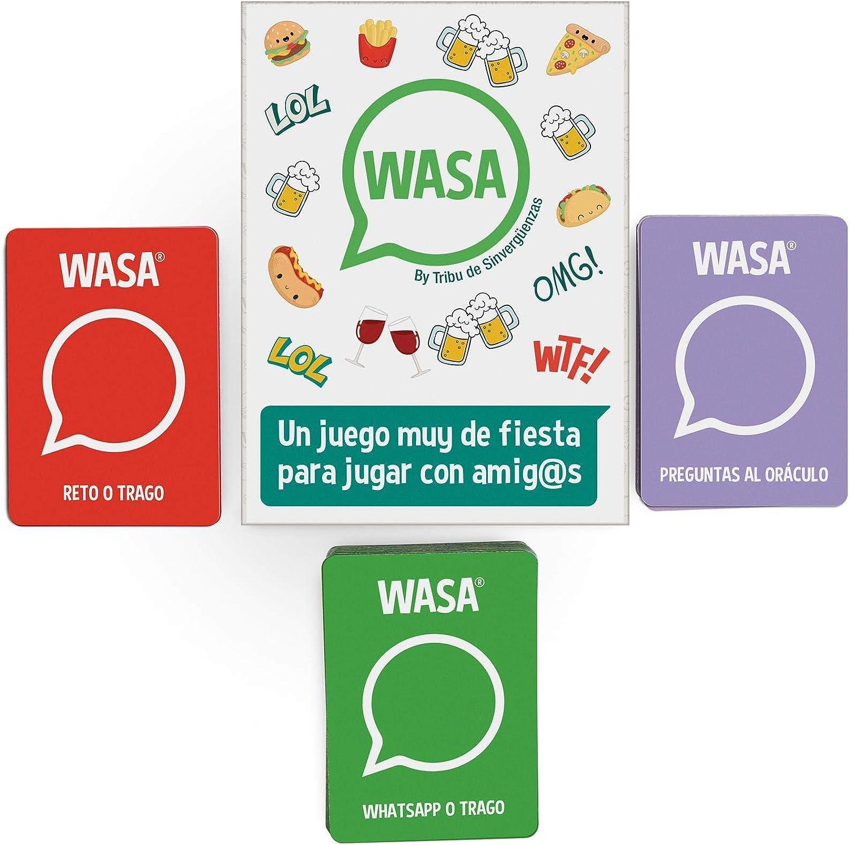 🤣 WASA 🤣 – Juego de Mesa - Juego de Cartas para Fiestas y Risas. 🔥: Amazon.es: Juguetes y juegos
