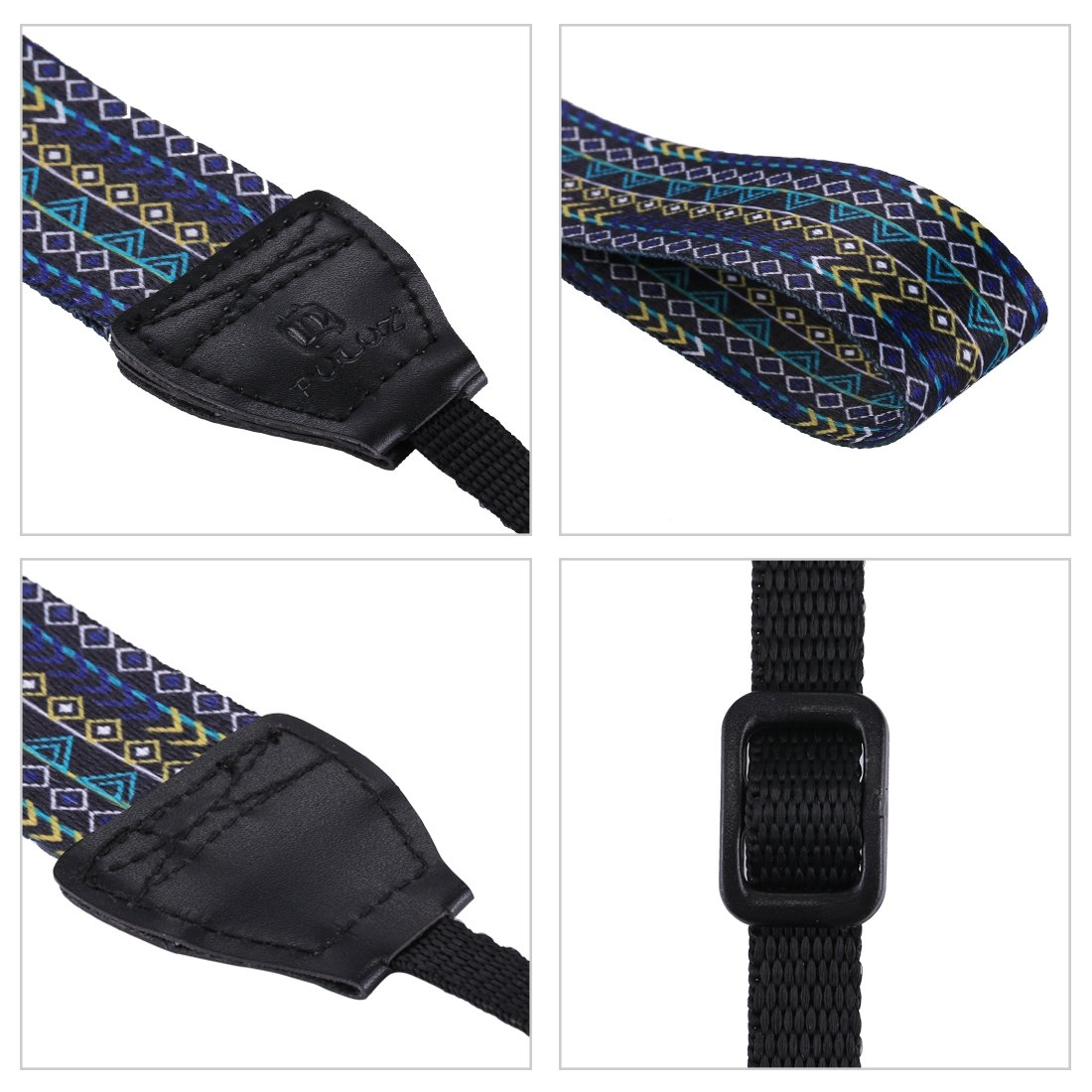 Color : Color1 Retro Ethnic Style Multi-Color Series Shoulder Neck Strap Camera Strap for SLR//DSLR Cameras Durable