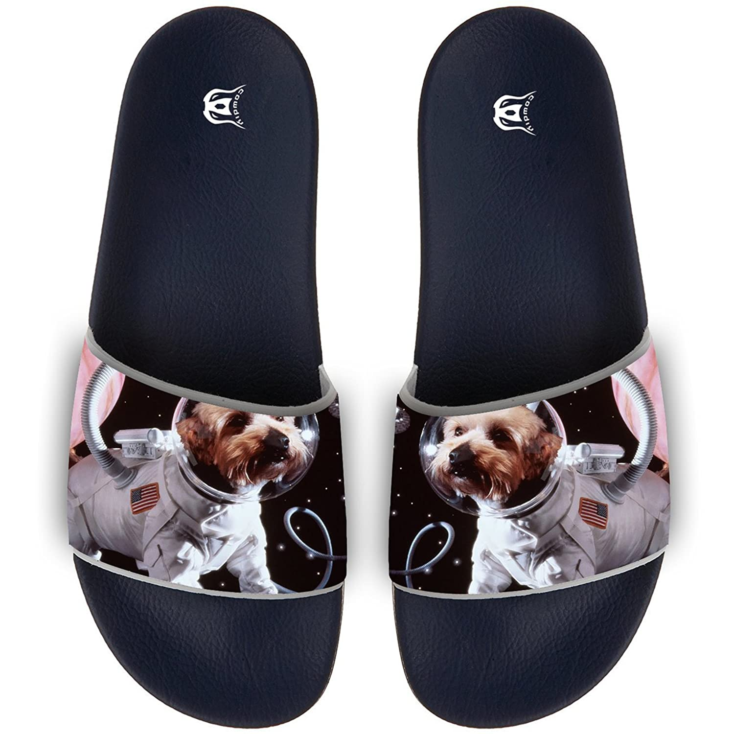 90e994a84a747 COWDIY Fashion Slide Sandals Space Dog Astronaut Cute Beach Slippers ...