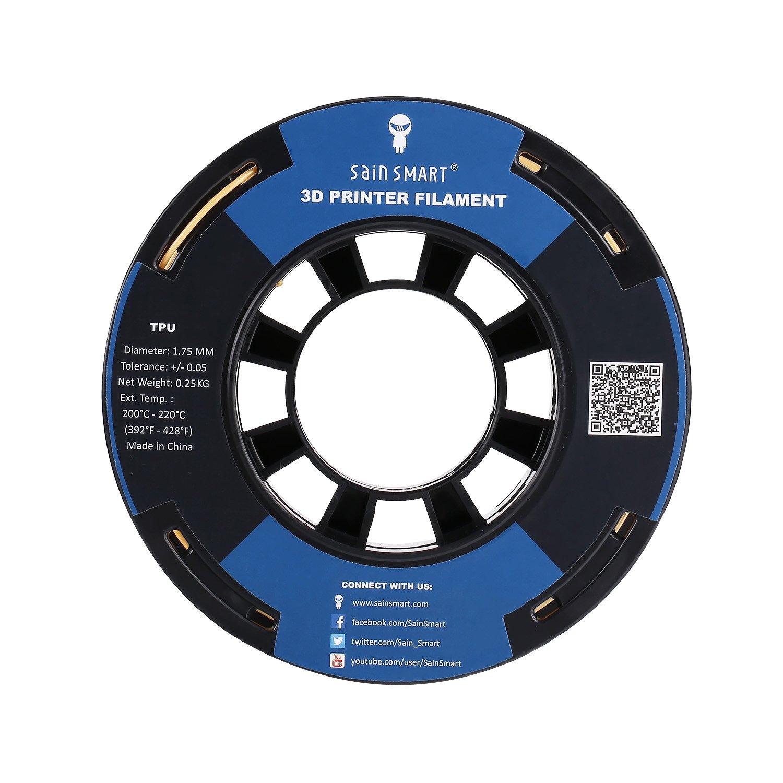 SainSmart Black Flexible TPU 3D Printing Filament 1.75 mm Dimensional Accuracy +//- 0.05 mm 0.25 kg