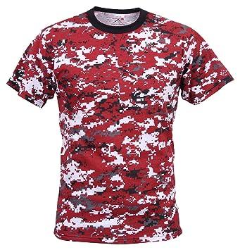 edfa2fa9f Rothco T-Shirt, Digital Red Camo, Large: Amazon.ca: Sports & Outdoors