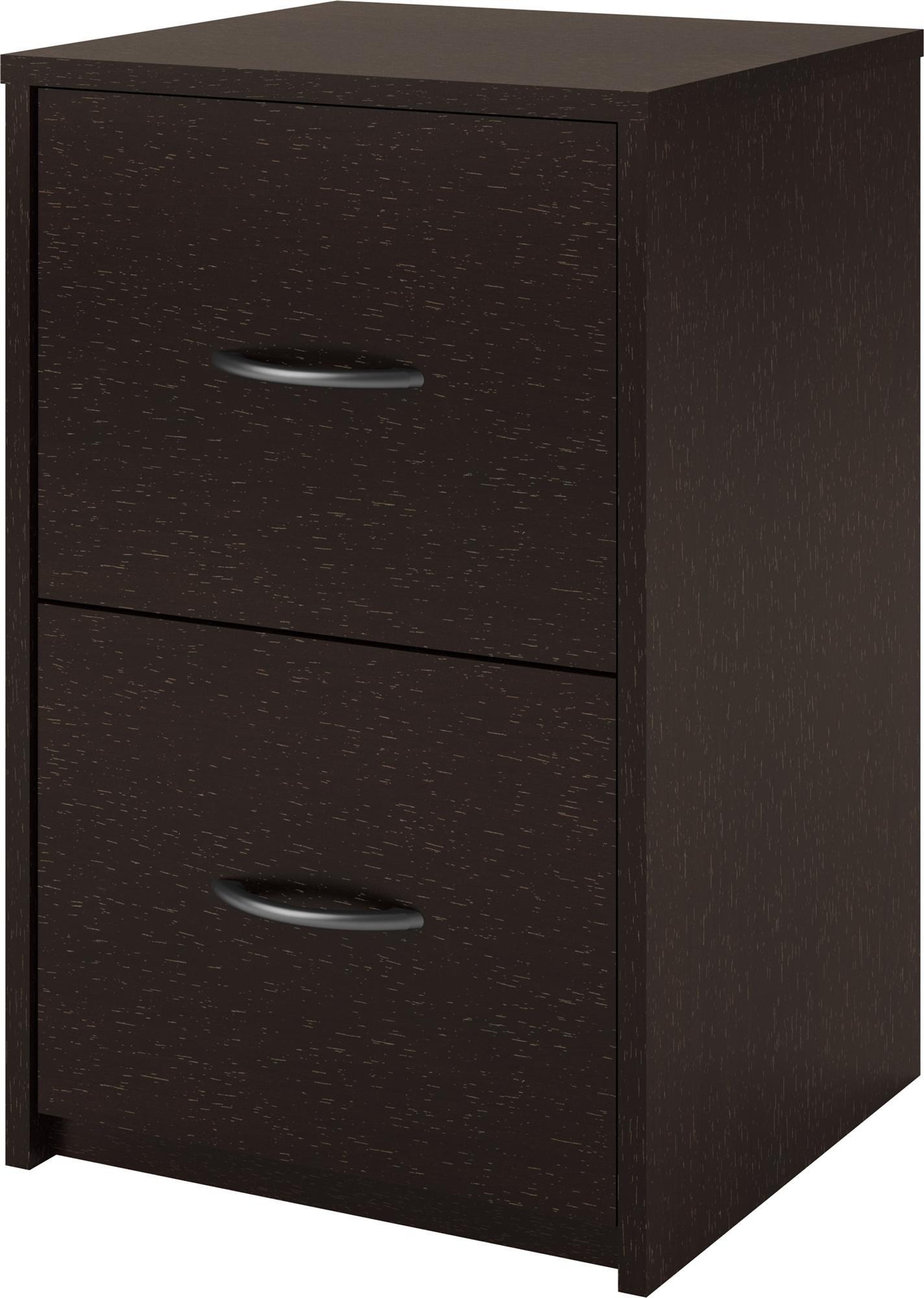Ameriwood Home Core 2 Drawer File Cabinet, Espresso