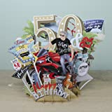 """50th Birthday Man"" Top Of The World 3D Pop-Up Card"