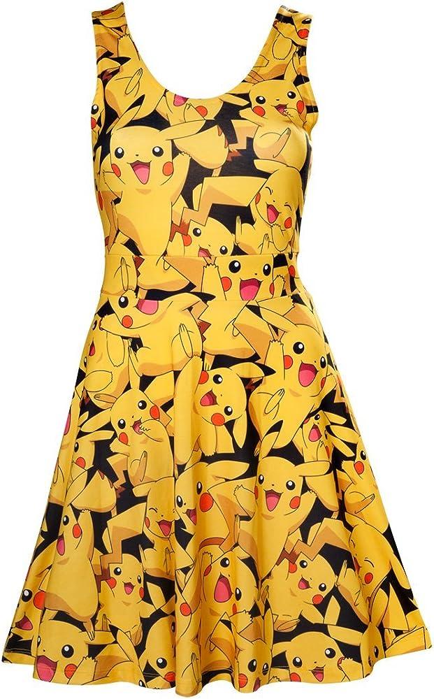 Dames Pikachu Robe Pour Elbenwald Mini Jaune Motif Allover m8NwO0vn