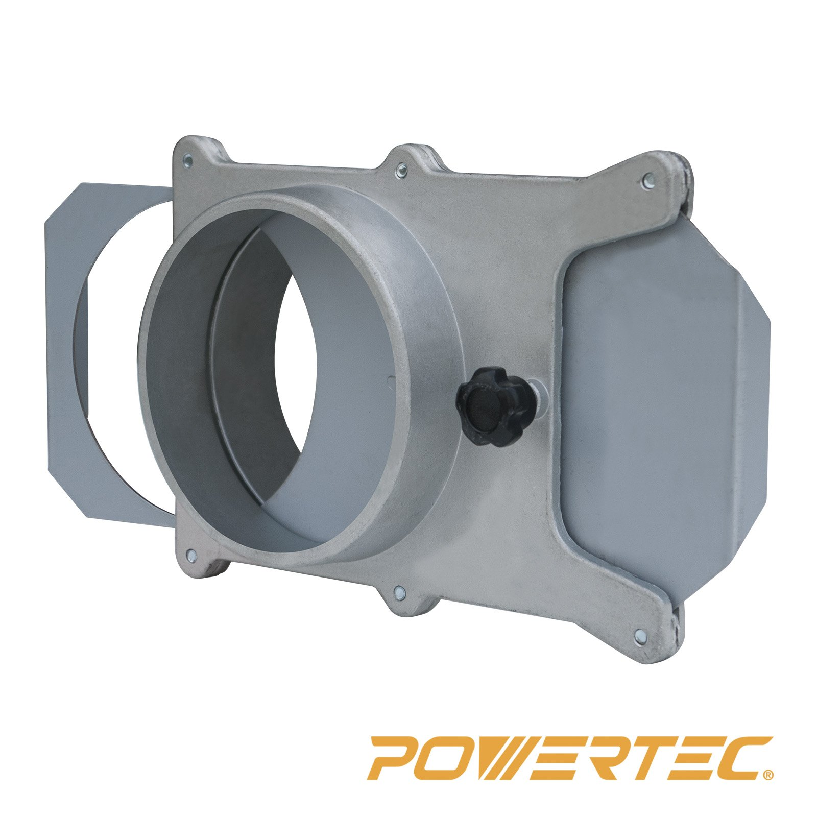 POWERTEC 70135 4-Inch Aluminum Blast Gate for Vacuum/Dust Collector