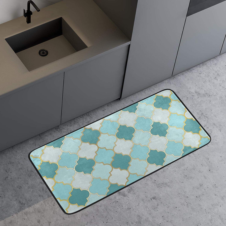 Fruit Pineapple Non Slip Absorbent Comfort Standing Mat Soft Runner Rug for Hallway Entryway Bathroom Living Room Bedroom 39 x 20 in Anti Fatigue Kitchen Floor Mat