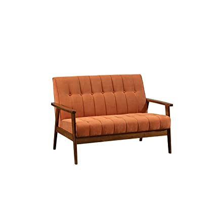 Amazon.com: Fat June IT 1321FC Sofa-2 SEAT-Orange Aarhus Loveseat ...