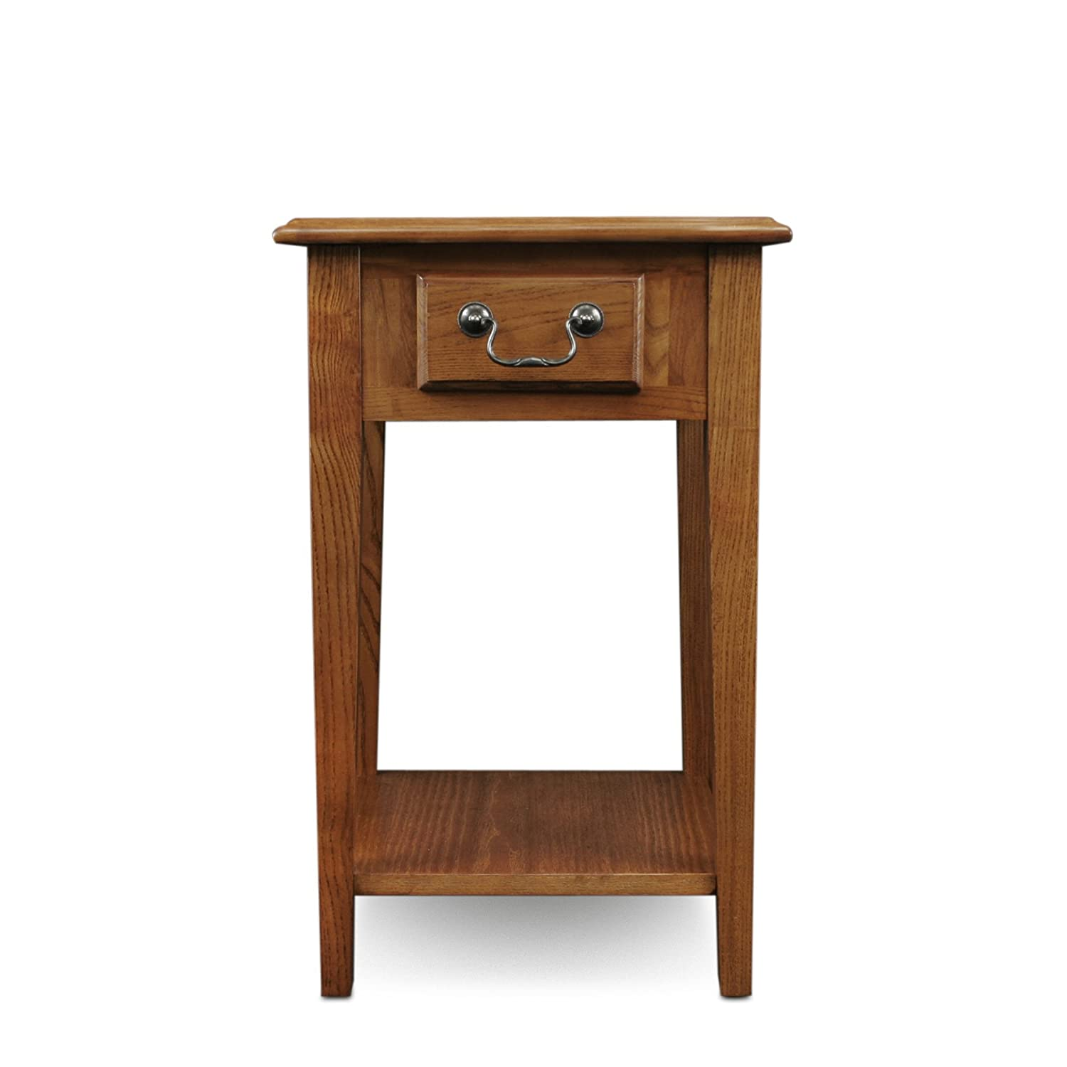 Amazon Leick Shaker Square End Table Medium Oak Kitchen